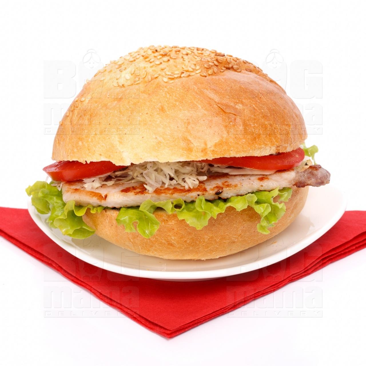 Product #48 image - Sandviş mare cu cotlet de porc la grătar