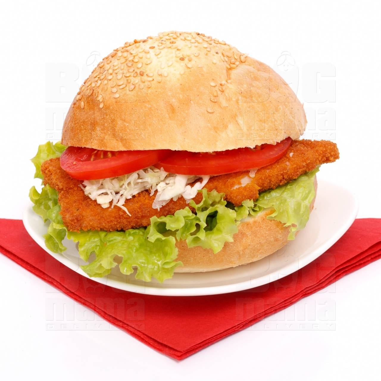 Product #60 image - Big sandwich with chicken schnitzel