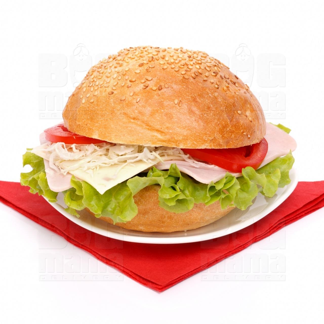 Product #61 image - Sandviş mic cu şuncă presată şi caşcaval